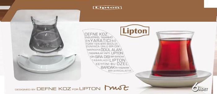 Lipton bardakları Esse Mağazaları'nda