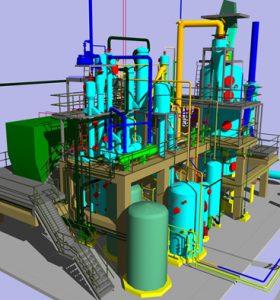 ekstraksiyon tesisi- 3D