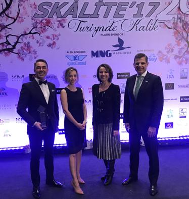 Hilton'a Skalite'den Uluslararası Otel Yatırımcılığı ve İşletmeciliği Ödülü