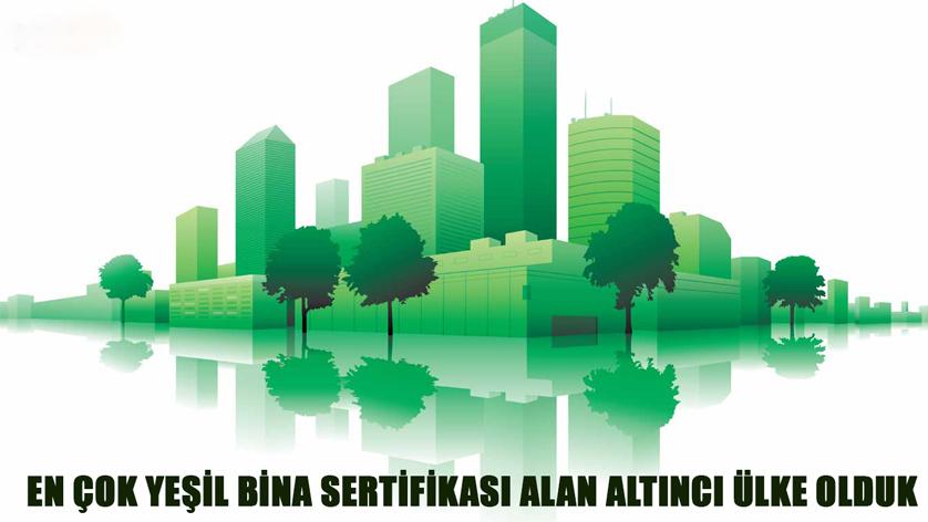 En çok yeşil bina sertifikası alan altıncı ülke olduk