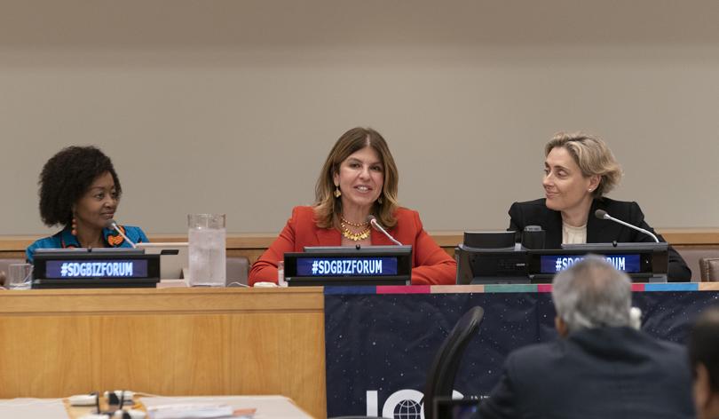 Gamze Cizreli Birleşmiş Milletler'de konuşma yaptı