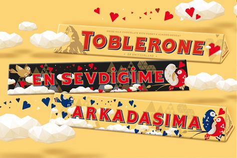 "Toblerone'dan ""En Sevdiğime"""
