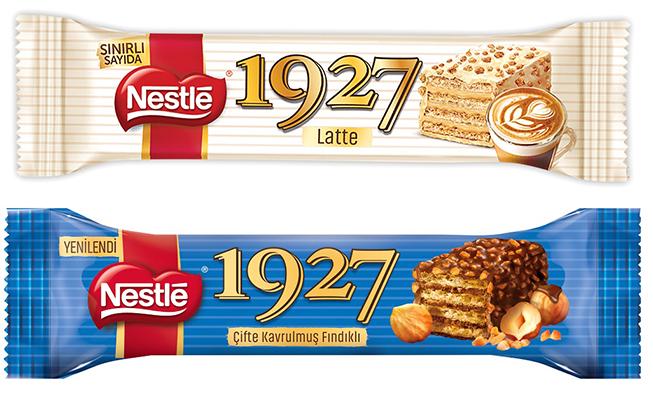 Nestlé 1927 Latte ve Çifte Kavrulmuş Fındıklı Gofret